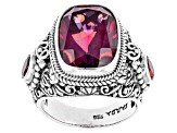 Bee Pink™ Mystic Quartz® Silver Ring 6.92ctw