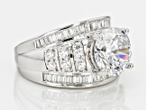 Pre-Owned Cubic Zirconia Silver Ring 8.88ctw