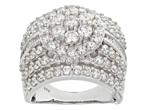 Pre-Owned Cubic Zirconia Silver Ring 5.85ctw