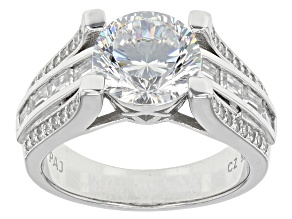 Pre-Owned Cubic Zirconia Silver Ring 5.52ctw
