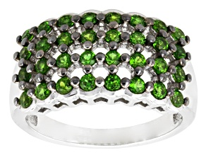 Pre-Owned Green Russian Chrome Diopside Sterling Silver Ring 1.28ctw