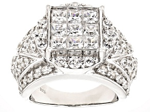 Pre-Owned Cubic Zirconia Silver Ring 5.97ctw
