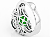 Pre-Owned Green Chrome Diopside Sterling Silver Ring 3.99ctw