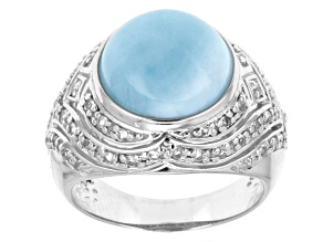 Pre-Owned Blue Larimar Sterling Silver Ring .83ctw.