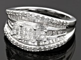 Pre-Owned Diamonds Sterling Silver Ring 1.00ctw