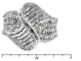 Pre-Owned White Diamond Rhodium Over Sterling Silver 1.00ctw