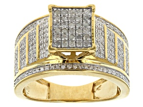Diamond 14k Gold Over Silver Ring .76ctw