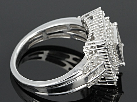 Pre-Owned Diamond Sterling Silver Ring .95ctw