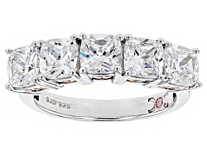 Cubic Zirconia Silver And 18k Rose Gold Over Silver Ring 5.38ctw
