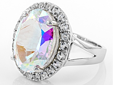 mercury mystic topaz ring