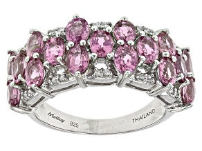 Purple Ceylon Sapphire Sterling Silver Ring 4.25ctw