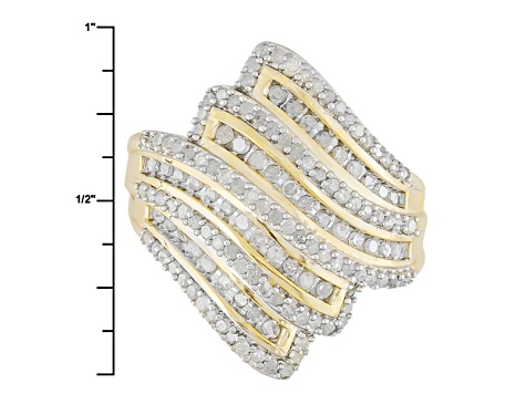 Diamond 14k Yellow Gold Over Sterling Silver Ring 1.20ctw