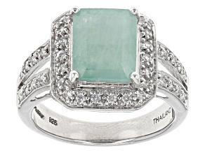 Green Grandidierite Sterling Silver Ring 2.90ctw