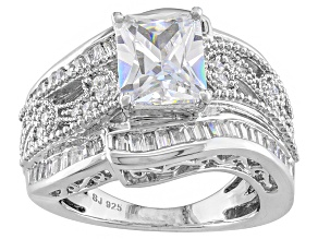 Pre-Owned Cubic Zirconia Silver Ring 5.99ctw (3.85ctw DEW)