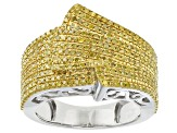 Pre-Owned Yellow Diamond Silver Ring 1.00ctw