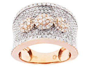 Pre-Owned Diamond 14k Rose Gold Over Sterling Silver Ring 1.00ctw