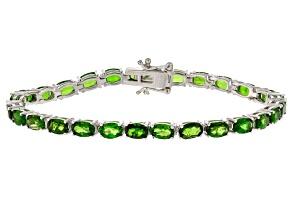 Green Chrome Diopside Sterling Silver Bracelet 12.20ctw
