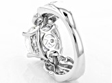Pre-Owned White Cubic Zirconia Rhodium Over Sterling Silver Ring 6.95ctw