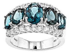 London Blue Topaz Sterling Silver Ring 4.87ctw