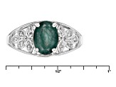 Green Grandidierite Sterling Silver Ring 1.26ctw