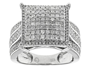 Pre-Owned Diamond Sterling Silver Ring 1.00ctw