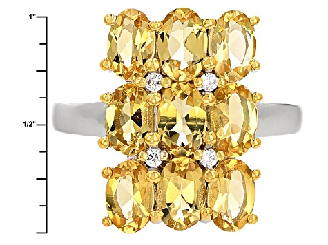 Pre-Owned Yellow Brazilian Beryl Sterling Silver Ring 3.06ctw