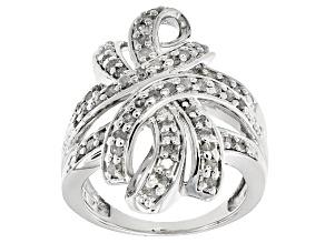 Pre-Owned Diamond Rhodium Over Brass Ring 1.00ctw