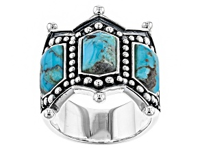 Blue Turquoise Silver Ring