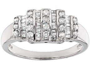 Pre-Owned Diamond Silver Ring .55ctw