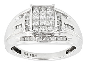 Pre-Owned Diamond 10k White Gold Ring .55ctw