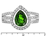 Pre-Owned Green Chrome Diopside Sterling Silver Ring 2.12ctw