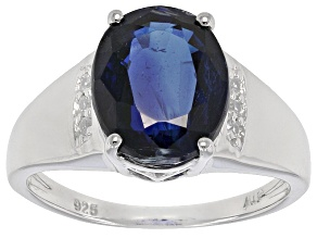 Blue Kyanite Sterling Silver Ring 4.52ctw