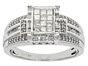 Pre-Owned Diamond 10k White Gold Ring .70ctw