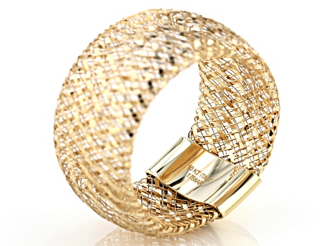 Pre-Owned 10k Yellow Gold 10.5mm Domed Mesh Stretch Ring