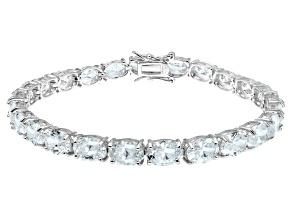 Pre-Owned Bella Luce ® 28.08ctw White Diamond Simulant Sterling Silver Bracelet 7.25