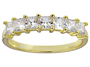 Pre-Owned Bella Luce® White Diamond Simulant 18k Gold Over Sterling Silver Ring