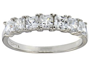 Pre-Owned Bella Luce® 2.10ctw Princess Cut White Diamond Simulant Sterling Silver Ring
