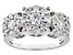 Pre-Owned Moissanite Platineve ring 1.51ctw DEW.