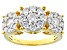 Pre-Owned Moissanite 14k Yellow Gold Over Silver Ring 1.51ctw DEW.