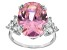 Pre-Owned Pink And White Cubic Zirconia Silver Ring 16.13ctw (9.98ctw DEW)