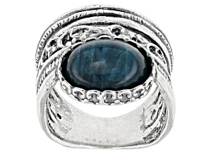 Pre-Owned Blue Apatite Silver Ring