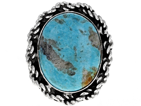 Pre-Owned Kingman Turquoise Silver Ring