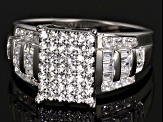 Pre-Owned Cubic Zirconia Rhodium Over Sterling Silver Ring 1.50ctw