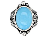 Pre-Owned Kingman Turquoise Sterling Silver Ring