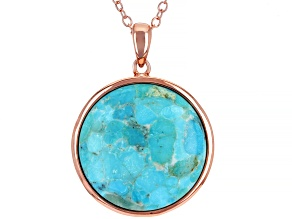 Pre-Owned Copper Turquoise Pendant With Chain