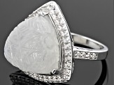 Pre-Owned Rainbow Moonstone Sterling Silver Ring 1.02ctw