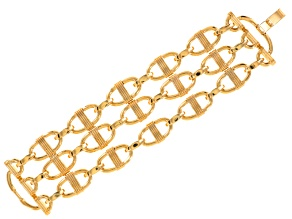 Pre-Owned Gold Tone Multi Chain Bracelet