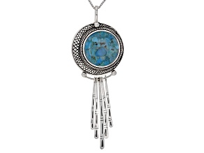 Pre-Owned Turquoise Silver Pendant With Chain