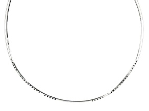 Pre-Owned Sterling Silver Collar Necklace