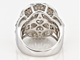 Pre-Owned Cubic Zirconia Silver Ring 3.63ctw